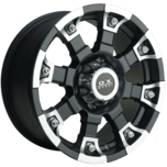 OX218 Flat Black Machined Face