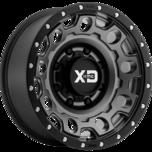 XD129 HOLESHOT Matte Gray W Black Reinforcing Ring