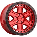 RENO CANDY RED W/ BLACK LIP EDGE & BLACK BOLTS
