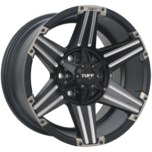 T-12 Satin Black - Milled Spoke - Chrome Attachments