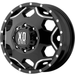 CRUX DUALLY GLOSS BLACK W/ MILLED ACCENTS
