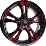 OX962 Black Red Machined Face