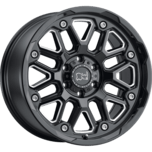 HOLLISTER GLOSS BLACK W/MILLED SPOKE