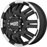 MO963 DUALLY MATTE BLACK MACHINED DUALLY (FR)