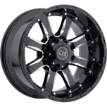 SIERRA GLOSS BLACK W/MILLED SPOKE