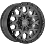 SPROCKET MATTE GUNMETAL W/BLACK LIP EDGE (GUNMETAL BOLTS)