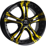 OX962 Black Yellow Machined Face