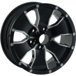 ION Wheels 14 Black Machined Edge