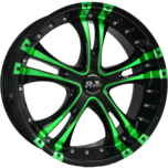 OX962 Black Green Machined Face