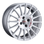 OZ Racing SUPERTURISMO WRC WHITE + RED LETTERING