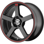 MR116 MATTE BLACK W/ RED STRIPE