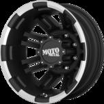 MO963 DUALLY MATTE BLACK MACHINED DUALLY (RR)
