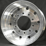Polished '0' Offset Trailer Alloy Wheel Polished