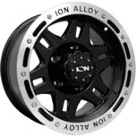 ION Wheels 133 Satin Black W/ Machined Lip