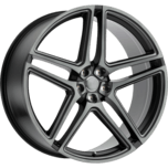 CROWN Matte Black W/ Machine Face- Ball Milled Spoke- & Translucent Clear Tint