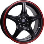 OX854 Flat Black Red Groove