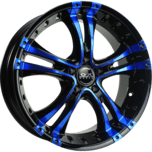 OX962 Black Blue Machined Face