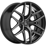 JAGER-DYNA 6-stud JAGER-DYNA 6-stud  BLACK MILLED SPOKE