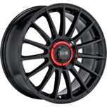 OZ Racing SUPERTURISMO EVOLUZIONE GLOSS BLACK + RED LETTERING