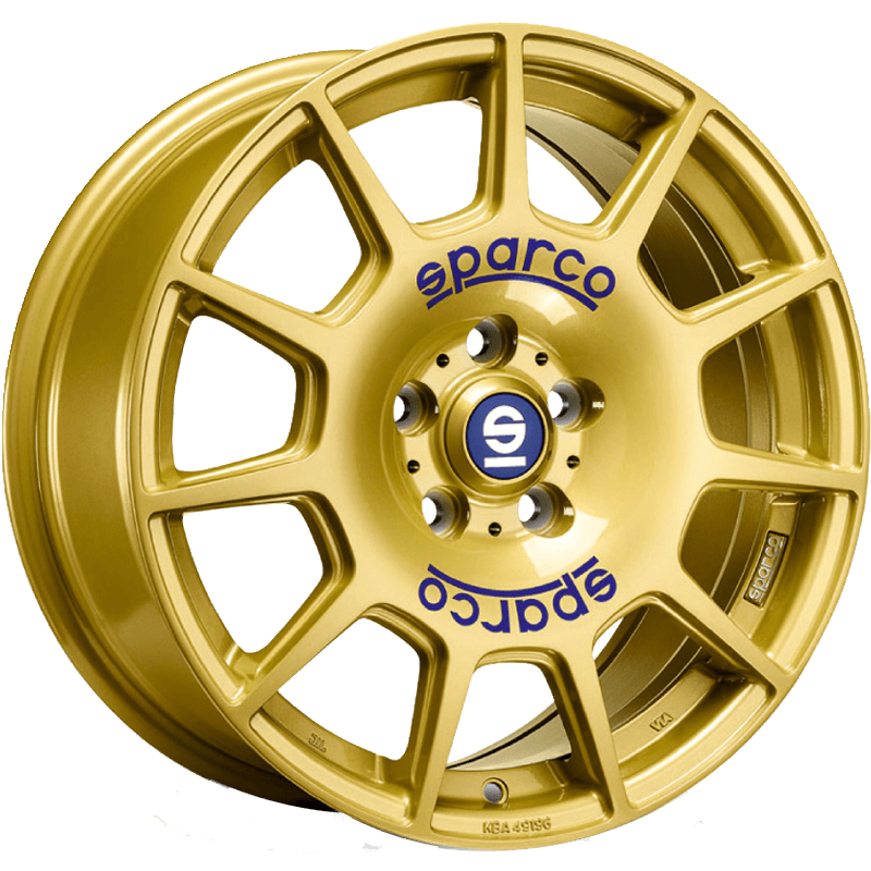 SPARCO TERRA Race Gold Blue Lettering