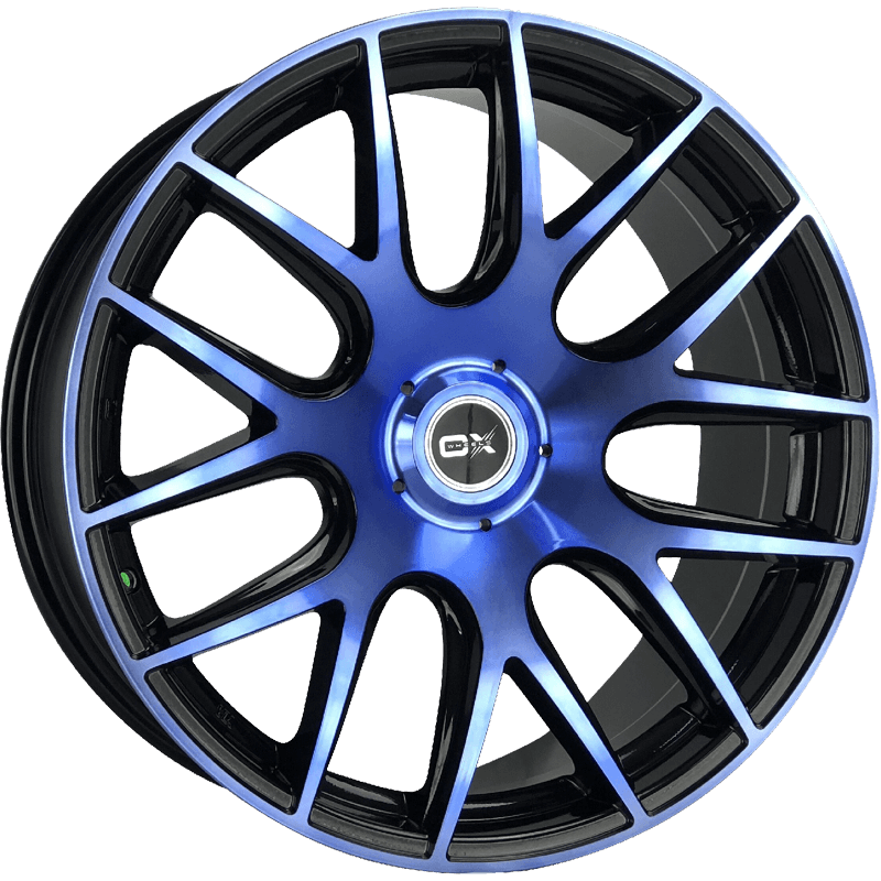 OX111 Machined Black/Blue Face