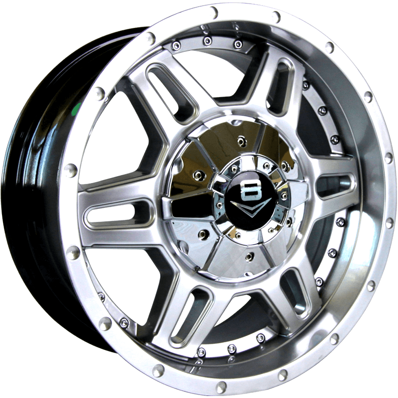 V-11 Hyper Silver with Machined Rivets