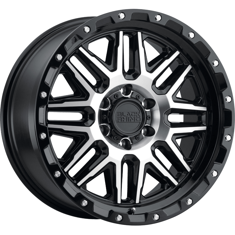 ALAMO GLOSS BLACK W/MACHINED FACE & STAINLESS BOLTS