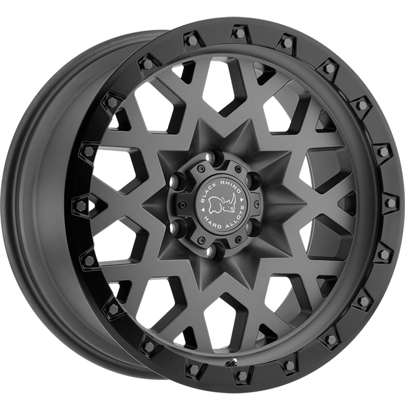 SPROCKET MATTE GUNMETAL W/BLACK LIP EDGE (GUNMETAL BOLTS) Angle