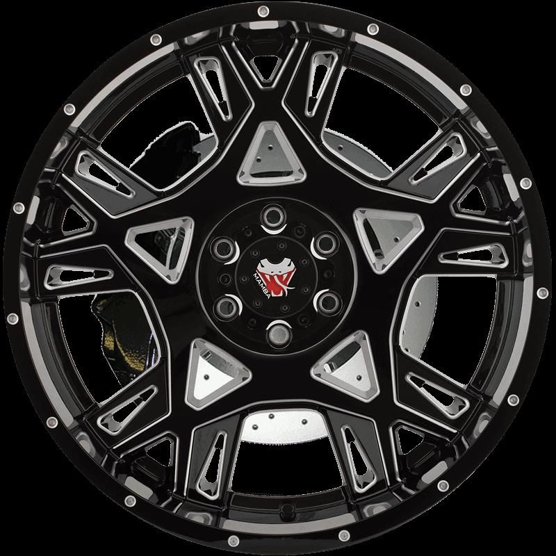M24 Gloss Black/Machined Ball Cut