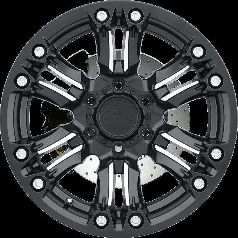 ASAGAI MATTE BLACK W/MACHINED SPOKE & STAINLESS BOLTS