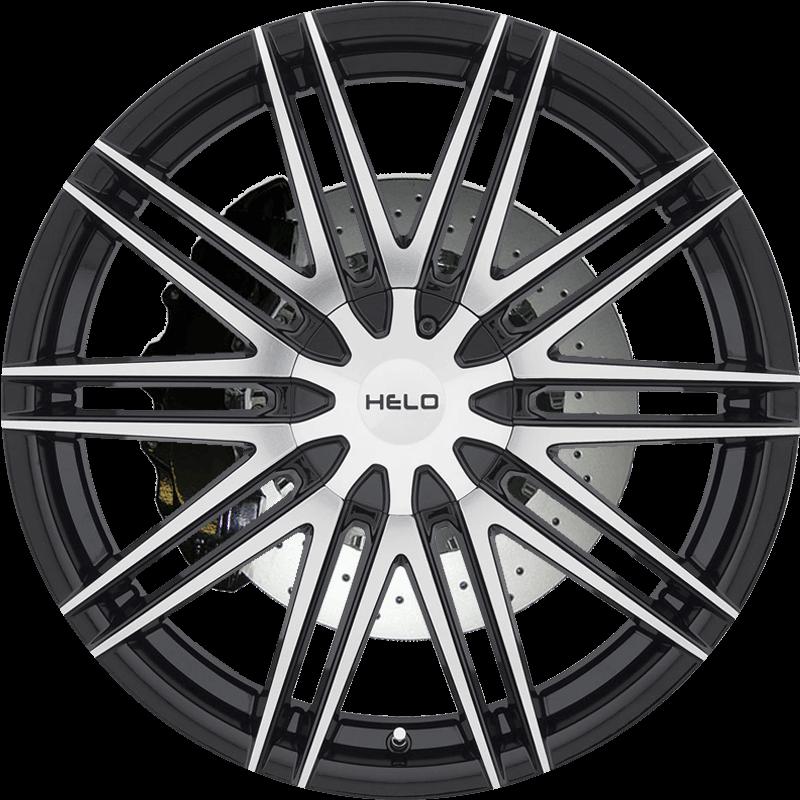 HE880 GLOSS BLACK W/ MACHINED FACE