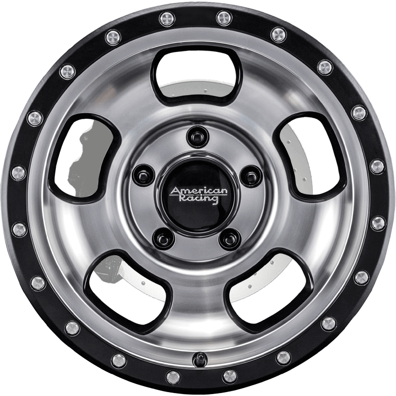ANSEN OFFROAD MACHINED FACE W/ SATIN BLACK RING