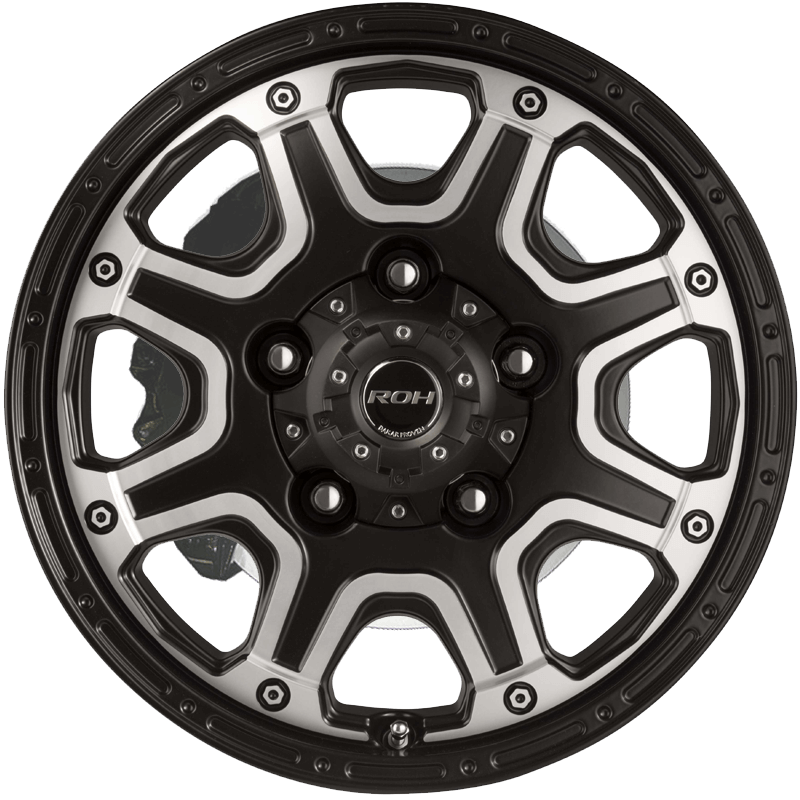 Octagon Black Machined Face