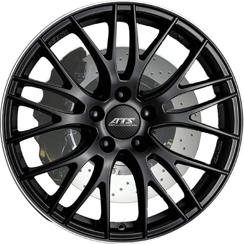 Ats Perfektion Racing Black Polished Lip - Island Wheel and