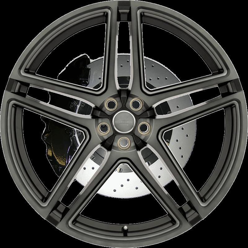 Crown MATT BLACK MACHINE FACE W/ DARK TINT & BALL MILLING