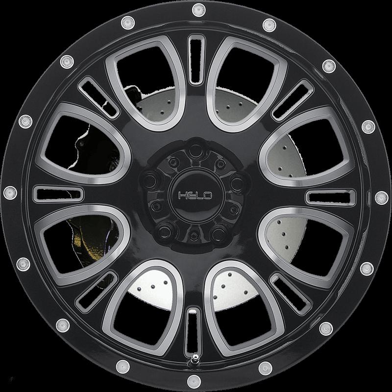 HE879 GLOSS BLACK MACHINED & MILLED