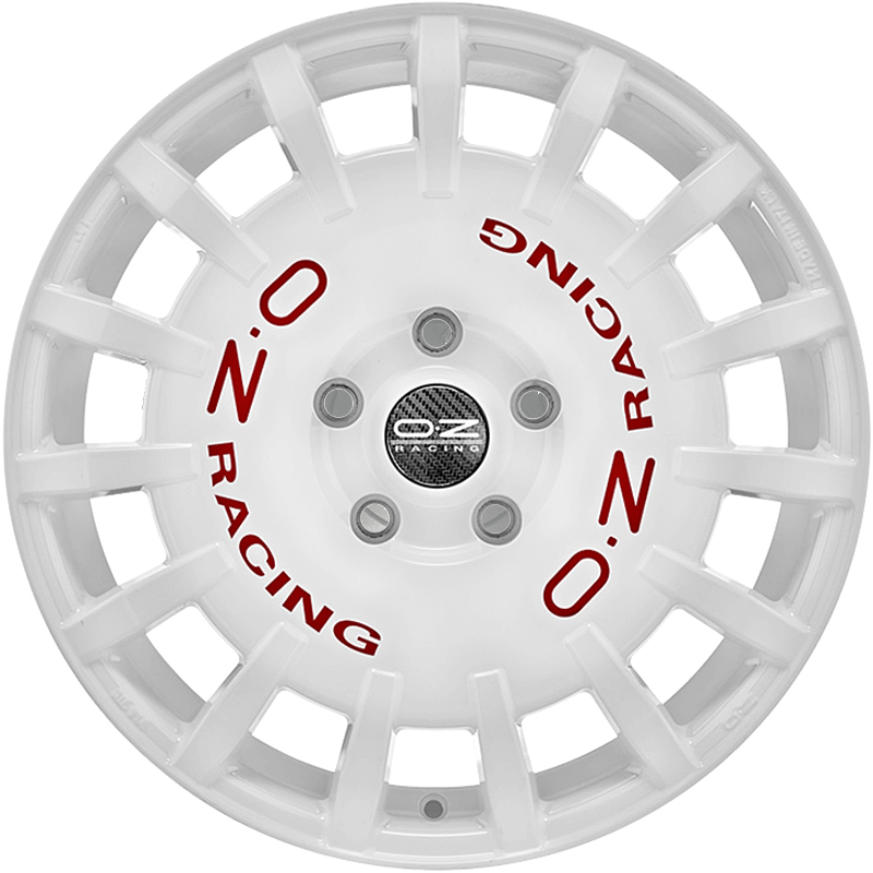 RALLY RACING         WHITE RED LETTERING