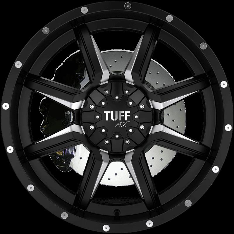 T-14 Satin Black - Milled Spokes