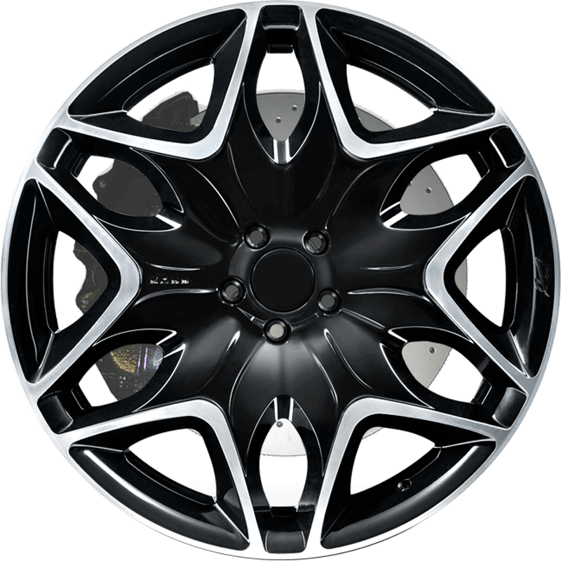 Split 6 Diamond/Gloss Black