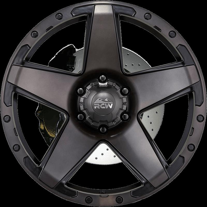 SANDSTORM Tungsten Grey Face & Ring / Satin Black Rivets & Inlay