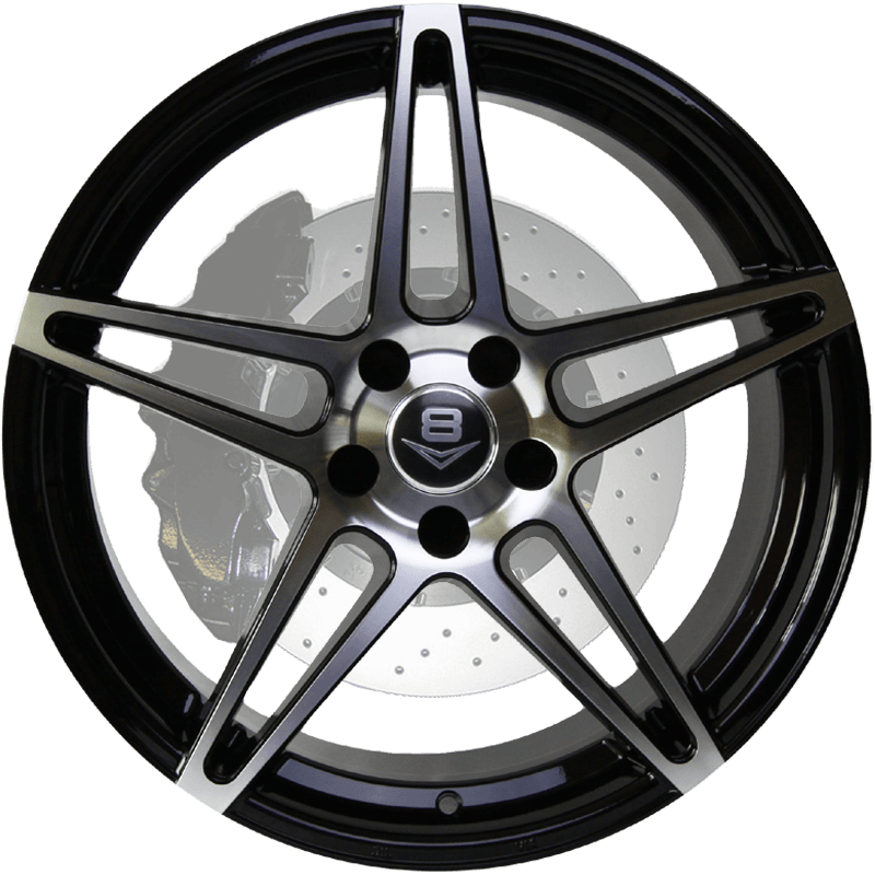 V-39 Gloss Black with Machine Face