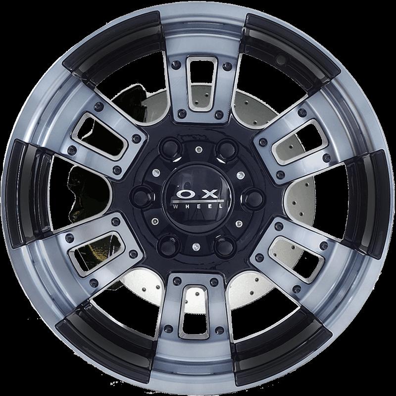 OX666 SUV Black Machine Face (Clear Coat)